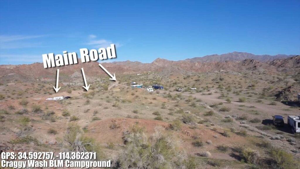 campsites main road